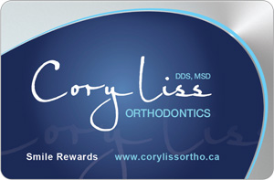 Liss Orthodontics Rewards Card
